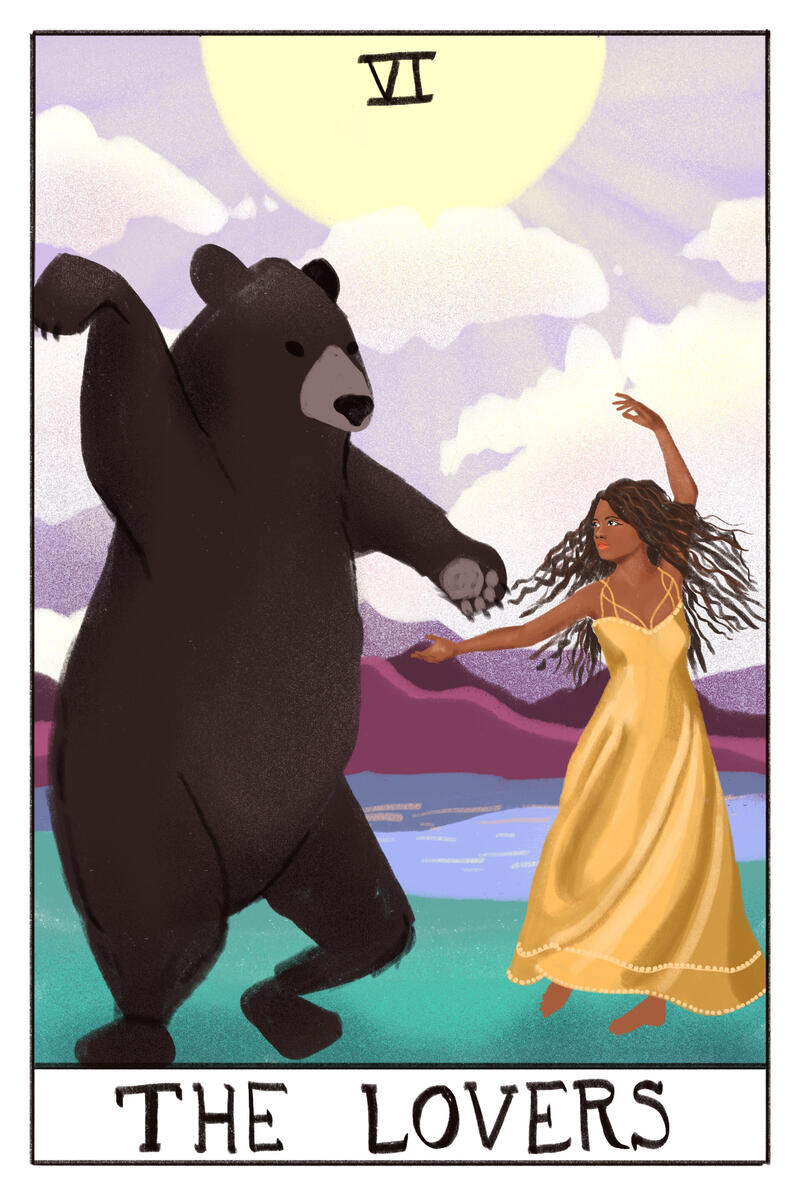 Procreate - Concept Art for Bear Tarot Cards Illustration by Ursula Viglietta